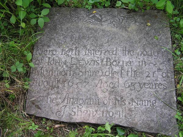 Stone on John Lewis' Grave