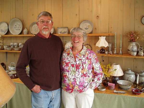 Eric and Barb in their showroom