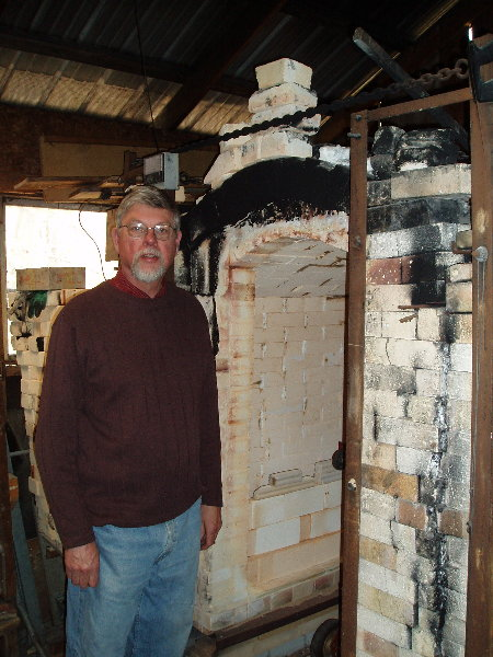 Eric at his car kiln